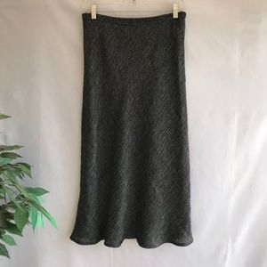 Eileen Fisher Midi Skirt Linen Cotton Gray PM